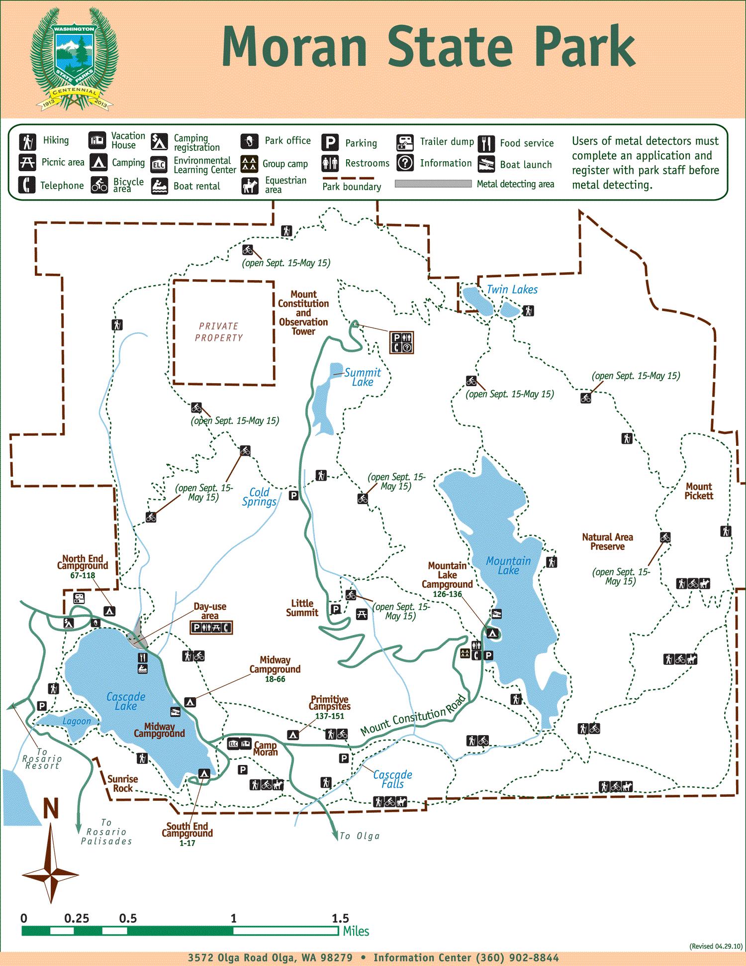 Moran State Park Map