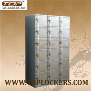 Six Tier Plastic Cabinet, Strong Lockset for Security