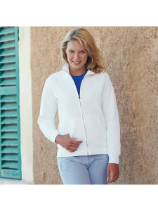 PLAIN SWEAT JACKET LADY FIT FRUIT OF THE LOOM