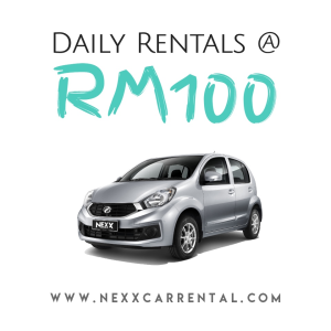 Rent a car from rm100 / day