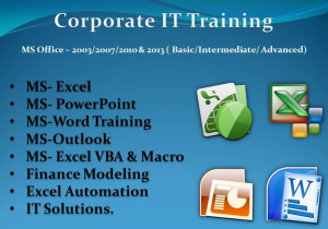 Corporate IT Training in chennai