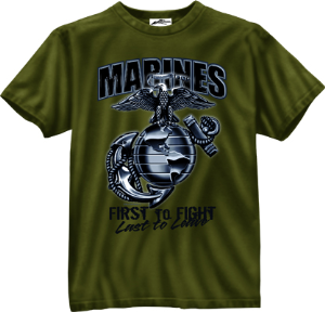 Marines First to Fight OD Tee | Marines T-shirts
