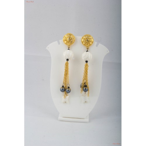 Fashion Jewellery Earrings - Opaque milky white Quartz