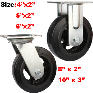 heavy duty rubber casters and wheels
