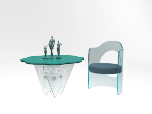 ATOLLA GLASS DINING TABLE
