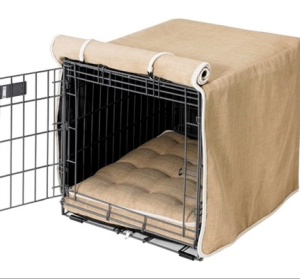 Flax MicroLinen Luxury Crate Cover