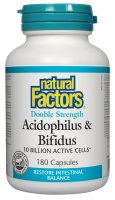 Natural Factors Acidophilus and Bifidus –A Healthy Gut is a Healthy Body