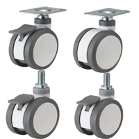 twin wheels medical casters