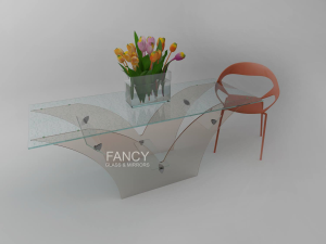 PHOENIX GLASS DINING TABLE