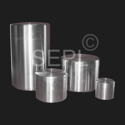 Aluminum Canisters With Push Type Lid