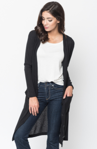 Shop for Everyday Maxi Cardigan Front Pockets and Full Length Sleeves Online - $44 - on caralase.com