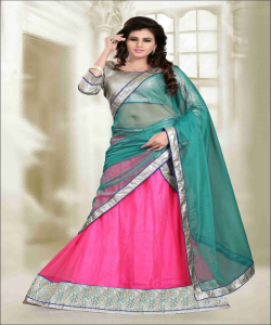Online Shopping India -Designer Pink Lehenga Choli by Sunder Creation