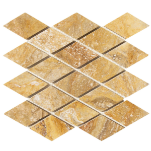 Travertine Mosaic Tile Scabos Diamond