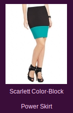 Scarlett Color-Block Power Skirt
