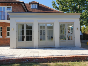 Timber French Doors with Panels