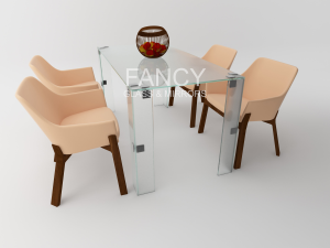 PAULA  GLASS DINING TABLE