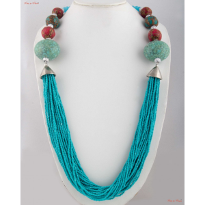 Fashion Necklaces - designed neck piece with multiple stones