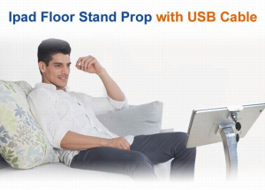 ipad Floor Stand prop with USB Cable