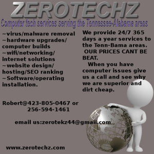 *virus/malware removal  *software/operating system installations  *hardware upgrades/computer builds