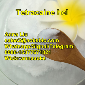 Tetracaine hydrochloride,136 47 0 Tetracaine hcl,Tetracaine hcl powder price,cas136-47-0,sales2@aoks