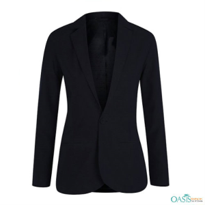 Dressy Black Girls Blazer, High School Uniform