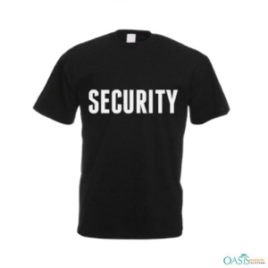 Trendy Black Security T-Shirt