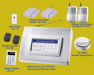 8zone wireless complete home alarm security system