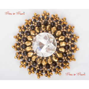 Fashion Brooches - Sphere studded stones