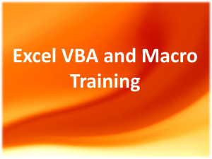 Microsoft Excel VBA and macro training in Chennai