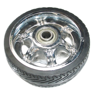 5 inch solid rubber wheels