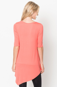 Quarter sleeve tunic tops