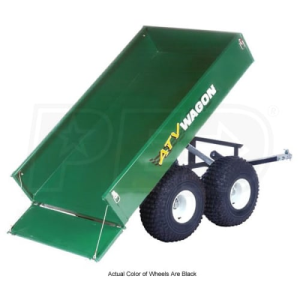 ATV Wagon 22 Cubic Foot Tandem Axle Steel Dump Trailer (Green)