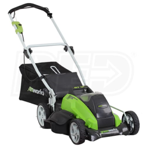 "Greenworks (19"") Cordless G-Max 40-Volt Lithium-Ion 3-In-1 Lawn Mower"