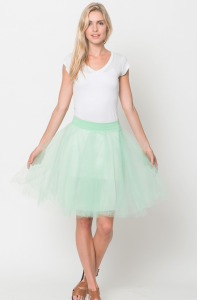 tulle lined skirt