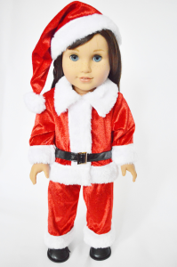 SANTA OUTFIT FOR AMERICAN GIRL DOLLS