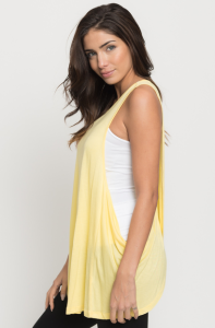 yellow Draped tank