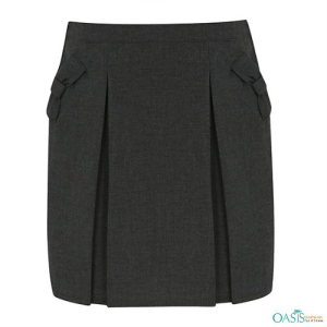 Grey Flannel Balloon Skirt - School Uniform