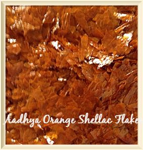 Orange shellac flakes