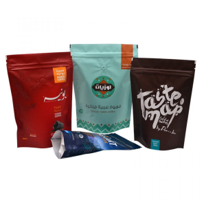 Coffee Packaging Pouches With Zipper & Valve
