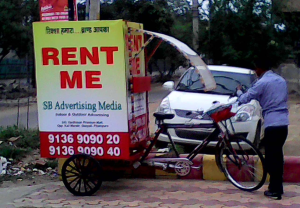 Tricycle advertising in delhi