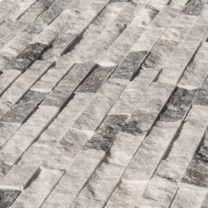 High-Quality Harbor Gray Marble Stacked Stone Ledger Panel in USA