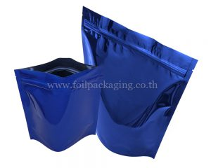 Shiny Blue Stan Up Pouch