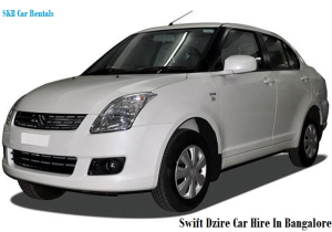 Swift Dzire Car for hire or rent bangalore-09036657799