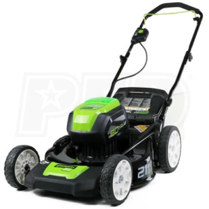 "Greenworks (21"") 80-Volt Lithium-Ion 3-In-1 Cordless Electric Lawn Mower (Mower Only - No Battery or"