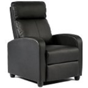 FDW Wingback Recliner Chair Leather Single Modern Sofa