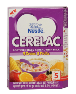 Complimentary Baby Food Nestle Cerelac Stage 5 Grain 5 Fruits 300 Gm - Lalaji24x7