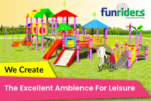 Funriders|Indoor and Outdoor play equipments|Open air fitness equipments|Disabled friendly park.