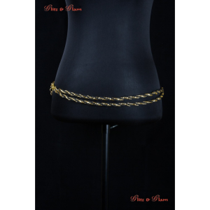 Fashion Belts - Simple and elegant, a double-brass chain band