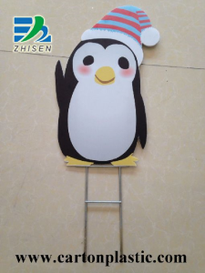Corrugated Plastic Signs With Wire Stake