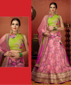 Golden And Royal pink Lehega Choli at online shopping india